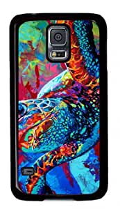 DIY Design Durable Black Plastic Protective Back Cover Case Covered with Colorful Abstract Painting for Samsung Galaxy S5 I9600-08
