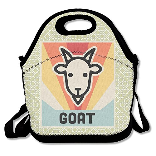 - Nngsiko Vintage Retro Goat Lunch Bag Thermal Insulated Tote Picnic Lunch Cooler Box Pouch Picnic Bento Box