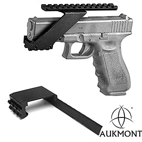 amazon aukmont tactical pistol handgun top bottom 21mm Glock 27 with Extended Mag image unavailable