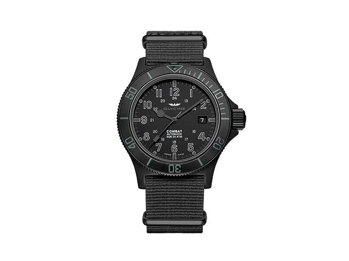 Glycine Combat Sub Automatic Watch Gl 224 Pvd Black 42mm