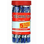 Cello-Technotip-Ball-Pen-Jar-Pack-of-20-pens-in-Blue-ink-with-5-free-Blue-refills-Lightweight-ball-pens-for-pressure-free-fine-writing-Exam-Pens