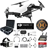 DJI Mavic Air (Arctic White) Drone Combo 4K Wi-Fi Quadcopter with Remote Controller Mobile Go Bundle with Hard Case VR Goggles Landing Pad 16GB microSDHC Card and Cleaning Kit (Arctic White Mobile Go Bundle)