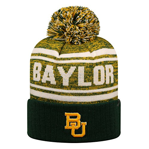 (Baylor Bears Official NCAA Driven Beanie Cuffed Stocking Stretch Knit Sock Hat Cap by Top of the World 817613)