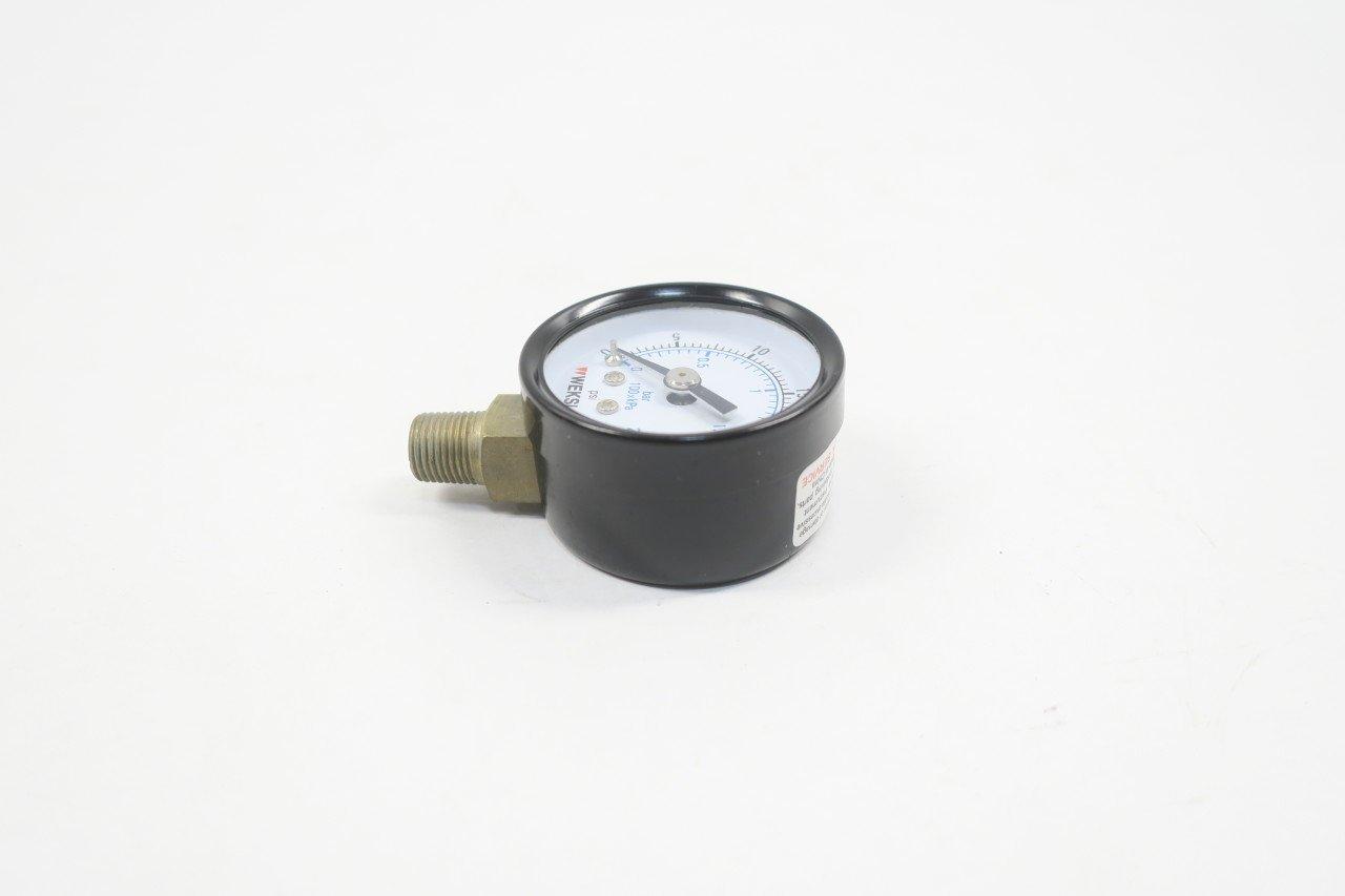 Weksler UA15A8L Pressure Gauge 0-30psi 1-1//2in 1//8in Npt
