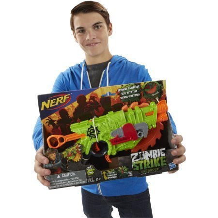 Nerf Zombie Strike Crosscut Blaster 4 Zombie Strike darts 8 Years old and up Fires 1 Dart At A Time
