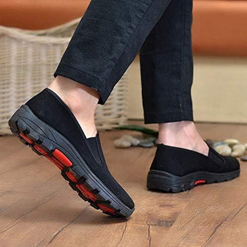 男性中国のカンフーの靴黒の伝統的な太極拳武術靴古い北京靴格闘技スニーカーblack-42