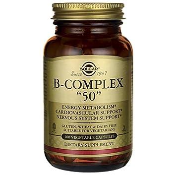 """Solgar Fórmula Vitamina B-Complex""""50"""" Cápsulas vegetales - Envase de 100"""