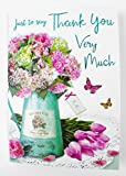 Just To Say Thank You Very Much Card Luxury Quality Verse Party Gift Large Her