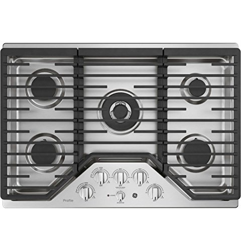 GE Profile PGP9030SLSS 30 Inch Natural Gas Sealed Burner Style Cooktop with 5 Burners in Stainless ()
