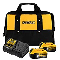 Deals on Dewalt 20V Max 5.0Ah Starter Kit w/2 Batteries + 2 Free Tools