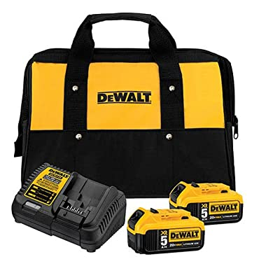 DeWalt DCB205-2CK 20V Max 5.0Ah Starter Kit with 2 Batteries,