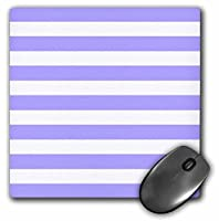 3dRose LLC 8 x 8 x 0.25 Inches Purple and White Stripes Pattern, Girly Lavender Mouse Pad (mp_56675_1)