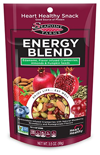 Seapoint Farms Edamame Energy Blend with Cranberries & Almonds, 12 Pack, Vegan
