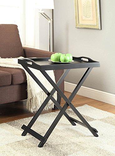 Convenience Concepts Designs2Go Folding Tray Table, Black