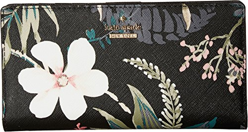Kate Spade New York Women's Cameron Street Stacy Snap Wallet, Black Multi, One Size by Kate Spade New York
