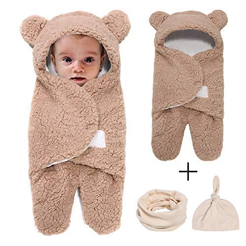 Newborn Swaddle Receiving Blanket Baby Blanket Infant Fleece Sleeping Wrap Bag Sleep Sack Warm for Girls Boys