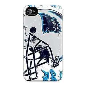 88bestcase Apple Iphone 4/4s Shock Absorbent Hard Phone Cover Custom Vivid Carolina Panthers Pattern [wOY1923BIcX]