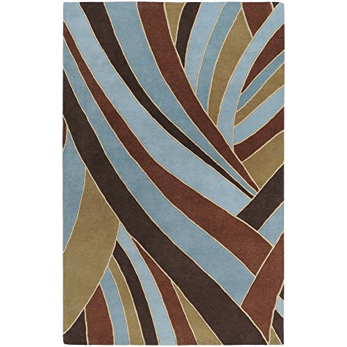 Surya Forum FM-7002 Contemporary Hand Tufted 100% Wool Russet 2' x 3' Abstract Accent Rug