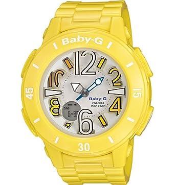 G-Shock Womens Neon Illuminator Baby G Tough Yellow Designer Watch