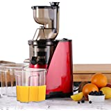 """Caynel Whole Slow Masticating Cold Press Juicer Extractor Quiet Durable Motor, 3"""" Big Mouth Wide Chute with Juice Jug, Brush and Extra Juice Bottle, Easy Cleaning Vertical Juicing Machine BPA Free"""
