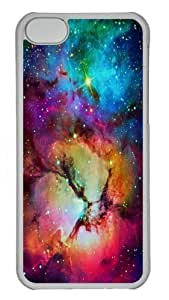 Floral Nebula Custom iPhone 5C Case Cover Polycarbonate Transparent