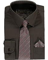 American Exchange Big Boys' Dress Shirt Set
