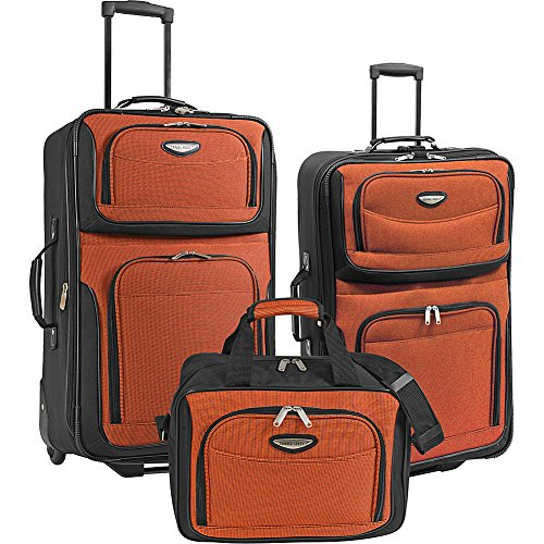 Traveler's Choice Amsterdam 3-Piece Travel Collection (Orange) by Traveler's Choice