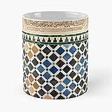 Alhambra Granada Tile Spain C - 11 Oz Mug Great Souvenir for Loved Ones