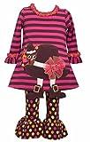 Bonnie Jean Thanksgiving Turkey Pilgrim Hat Tunic and Legging Set, Girls, 12 Months