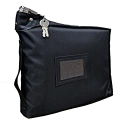 Prescription Medication Bag Standard Lock Travel Case (Black)