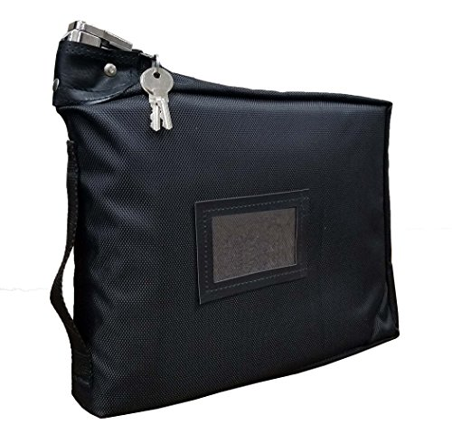 Prescription Medication Bag Standard Lock Travel Case (Black) by Cardinal Bag Supplies