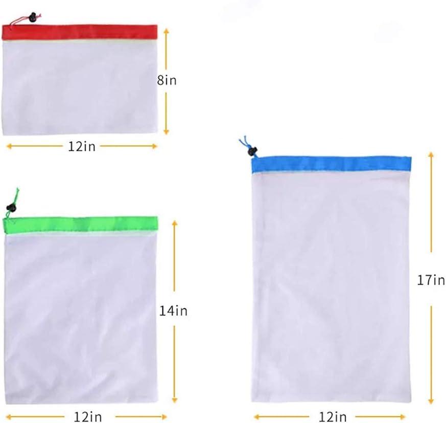QAH 3 Piezas Lavadora Calcetines Plegable Red de Malla Bolsas de lavander/ía Cierre de Cremallera Bolsa de lavander/ía Cubiertas de protecci/ón 3PCS Black
