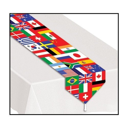 Beistle 57905 Printed International Flag Table Runner - Pack of 12 [並行輸入品]   B07J4JVMWR