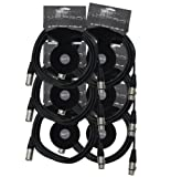 XSPRO XSPDMX3P15 3 Pin DMX Light Cable 15' - 6PAK