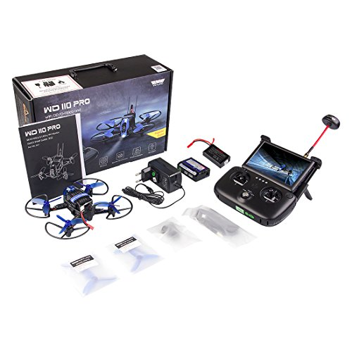 Weyland Quadcopter Racing Drone Kit WD110 PRO with Devo f8S(s) Remote Control & Fpv Monitor/F3 Fight Control/Fpv Camera/Video Transmitter for Christmas Gift by Weyland