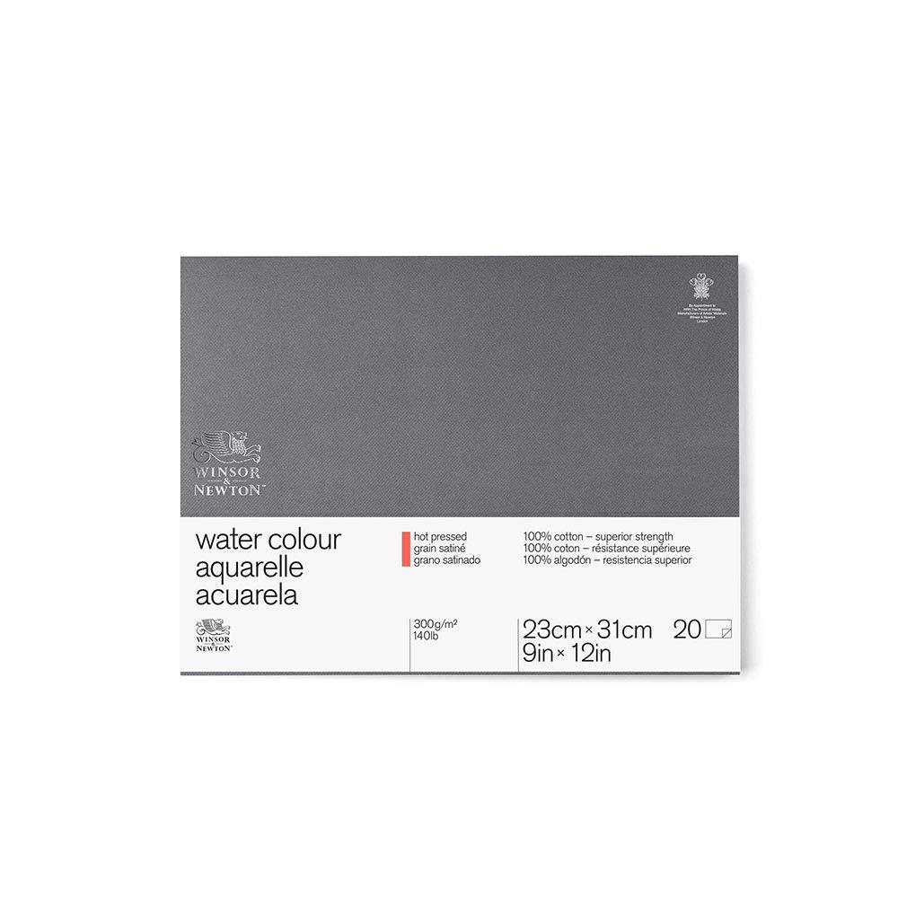 Winsor& Newton - Blocco Grana Satinata - 22.9 X 35Cm - Incollato 4 Lati - 20 Fogli - 300G Colart 6663267