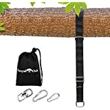 EASY HANG (8FT) ADJUSTABLE TREE SWING STRAP X1 - Holds 2200lbs. - Heavy Duty Carabiner - Bonus Spinner - Perfect for Tire and Saucer Swings - Waterproof - Picture Instructions - Carry Bag Included
