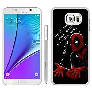 Popular And Fashionable Designed Samsung Galaxy Note 5 Case ,Deadpool (3) White Samsung Galaxy Note 5 Skin High Quality Phone Case