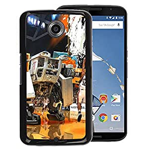 FU-Orionis Colorful Printed Hard Protective Back Case Cover Shell Skin for NEXUS 6 / X / Moto X Pro - Mech Warrior Basketball