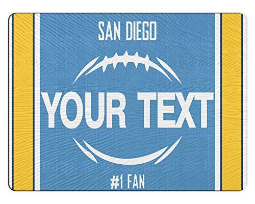BRGiftShop Personalized Custom Football Team San Diego 11x15 Glass Cutting Board