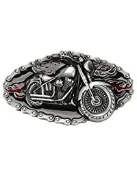 Motorcycle Belt Buckle Western Cowboy Motorcyclist (MOT-06)