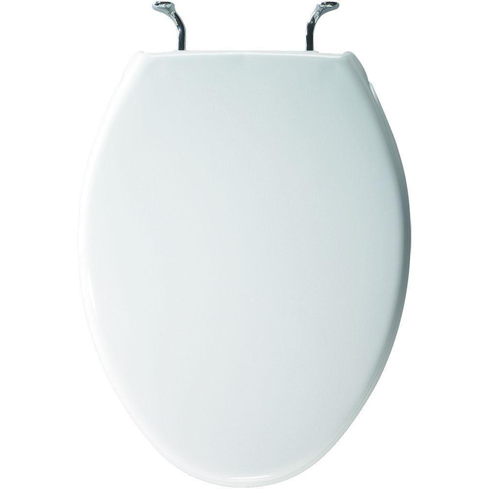 Bemis 1900CCP 000 Commercial Plastic Elongated Toilet Seat, White