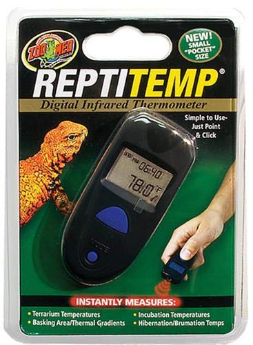Habitat Thermometer - Zoo Med ReptiTemp Digital Infrared Thermometer, 6 x 1.3 x 6 inches