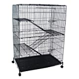 4 Levels Small Animal Cage in Black, My Pet Supplies