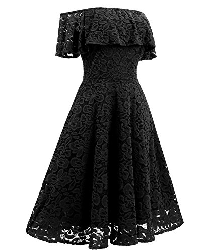 Women's Sexy Off Shoulder Cocktail Wedding Dress Elegant Eastylish Party Lace Casual F5xqfnw