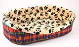 New Dog or Cat Paw Print Pet Bed for Dogs Cats or Other Small Pets 15-25lbs., My Pet Supplies