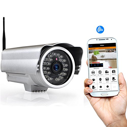 Outdoor Wireless Home Security Surveillance IP Camera with Weatherproof Aluminum Body and Night Vision - Connect Wifi for Remote Access to Live Video (Infrared Sensor Smartphone compare prices)