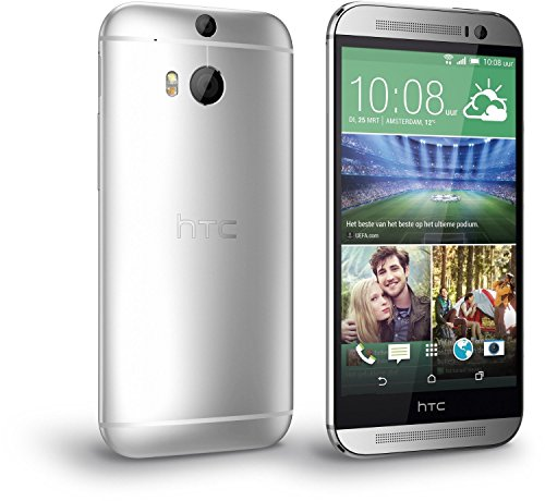 HTC One M8 16GB 4G LTE Unlocked GSM Android Cell Phone EMEA Version - Silver (Best Micro Sd Card For Htc One M8)