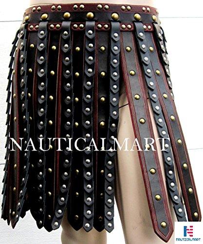 Leather Armor Deluxe Roman Gladiator War Skirt Halloween Costume