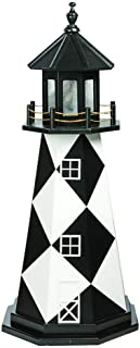 product image for DutchCrafters Decorative Lighthouse - Wood, Cape Lookout Style (4', Black/White)